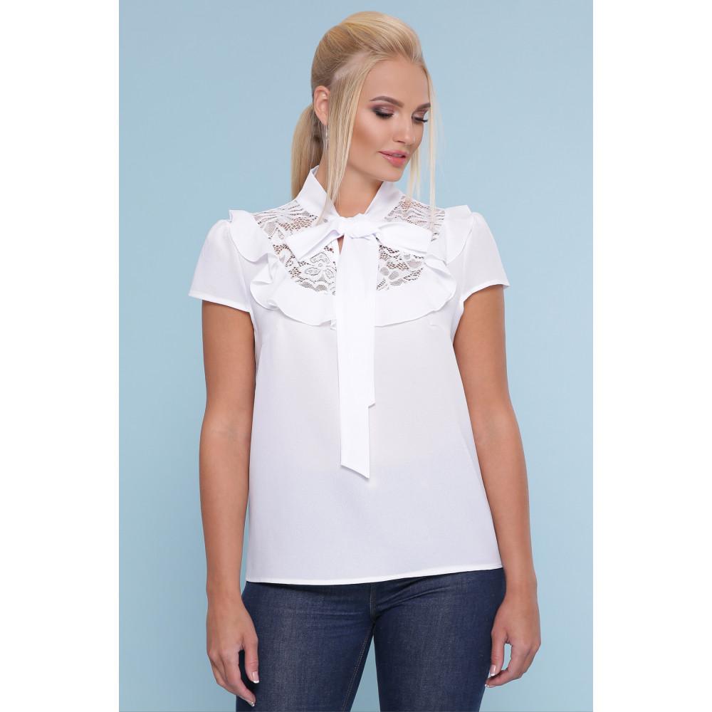 Белоснежная блузка с кружевом Федерика фото 1