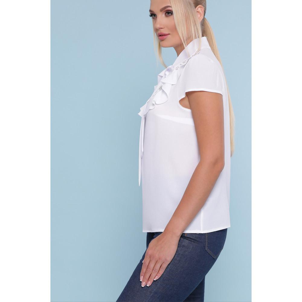 Белоснежная блузка с кружевом Федерика фото 2