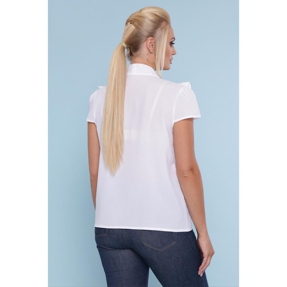 Белоснежная блузка с кружевом Федерика фото 3
