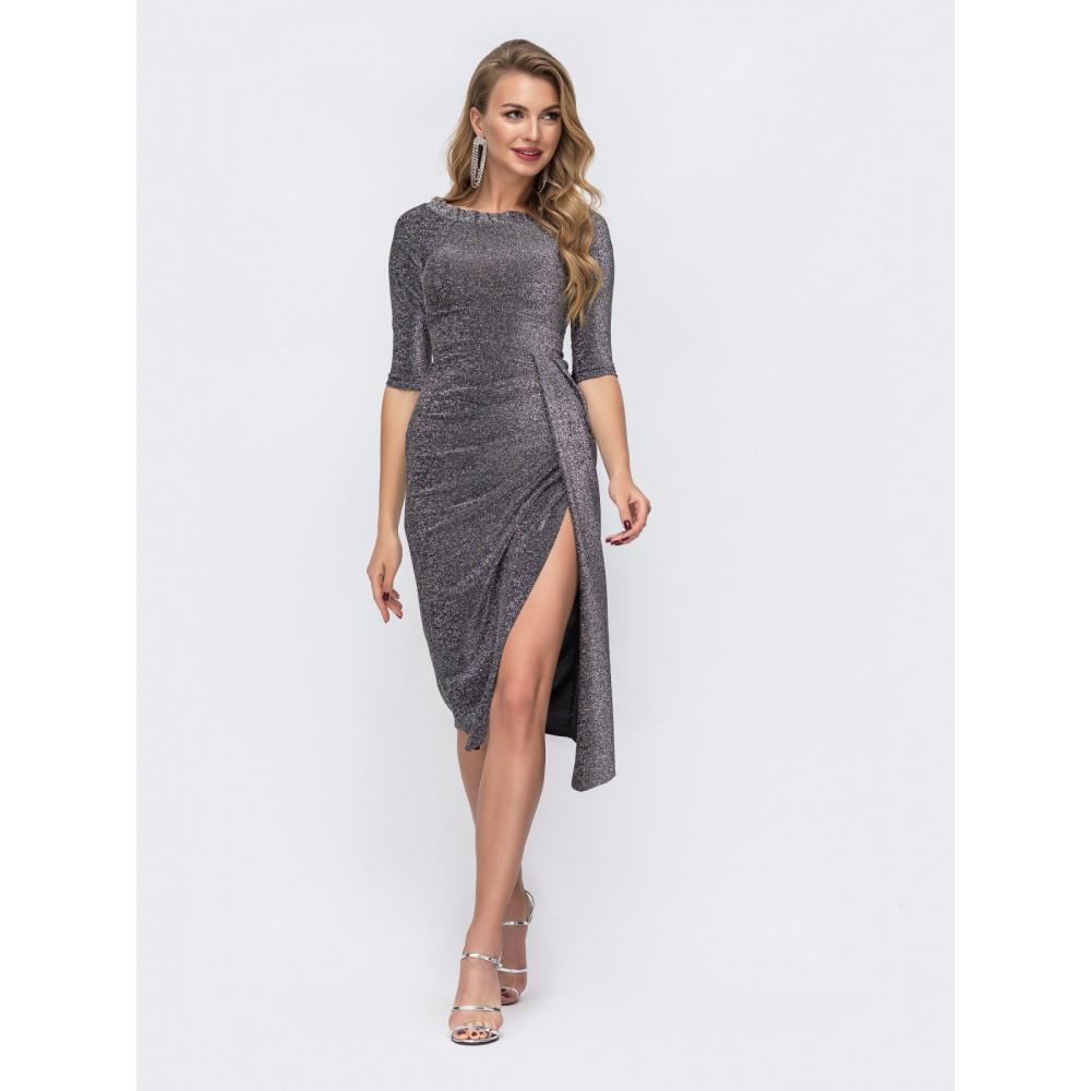 Женственное платье с высоким разрезом фото 1