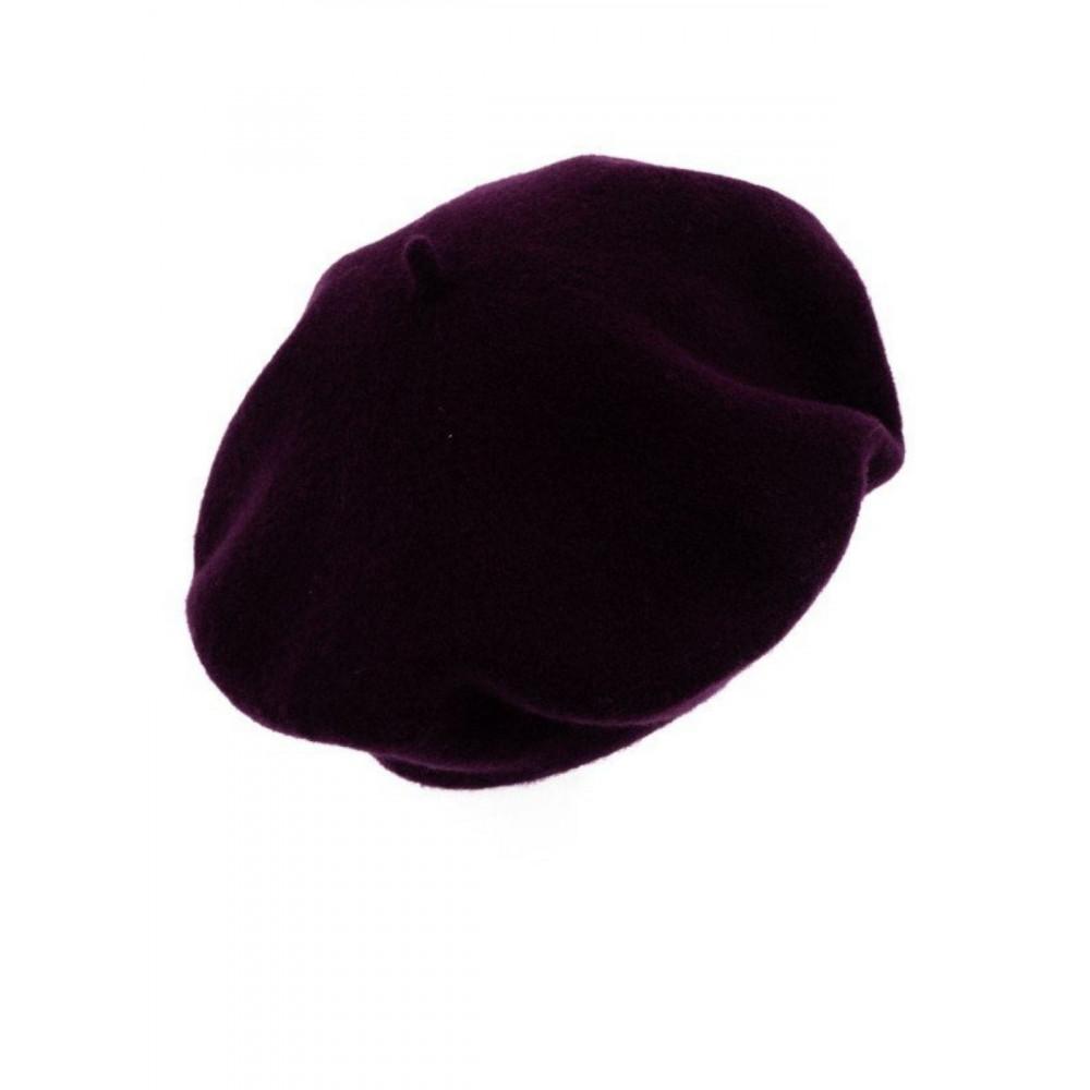 """Берет Флора-633 глубокого цвета """"рубин"""" фото 2"""