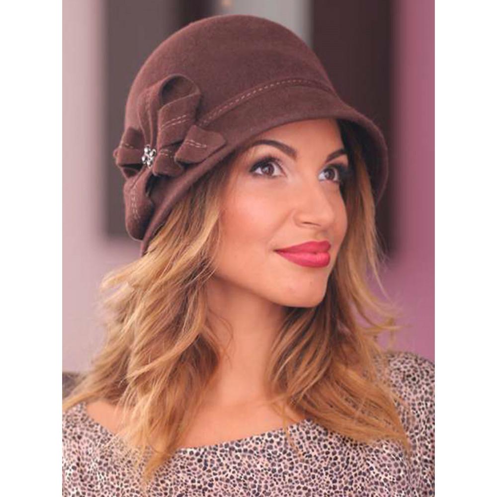 Красивая шляпа с декором 242-3 фото 1