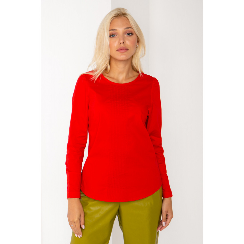 Алая хлопковая блуза Ванесса фото 1