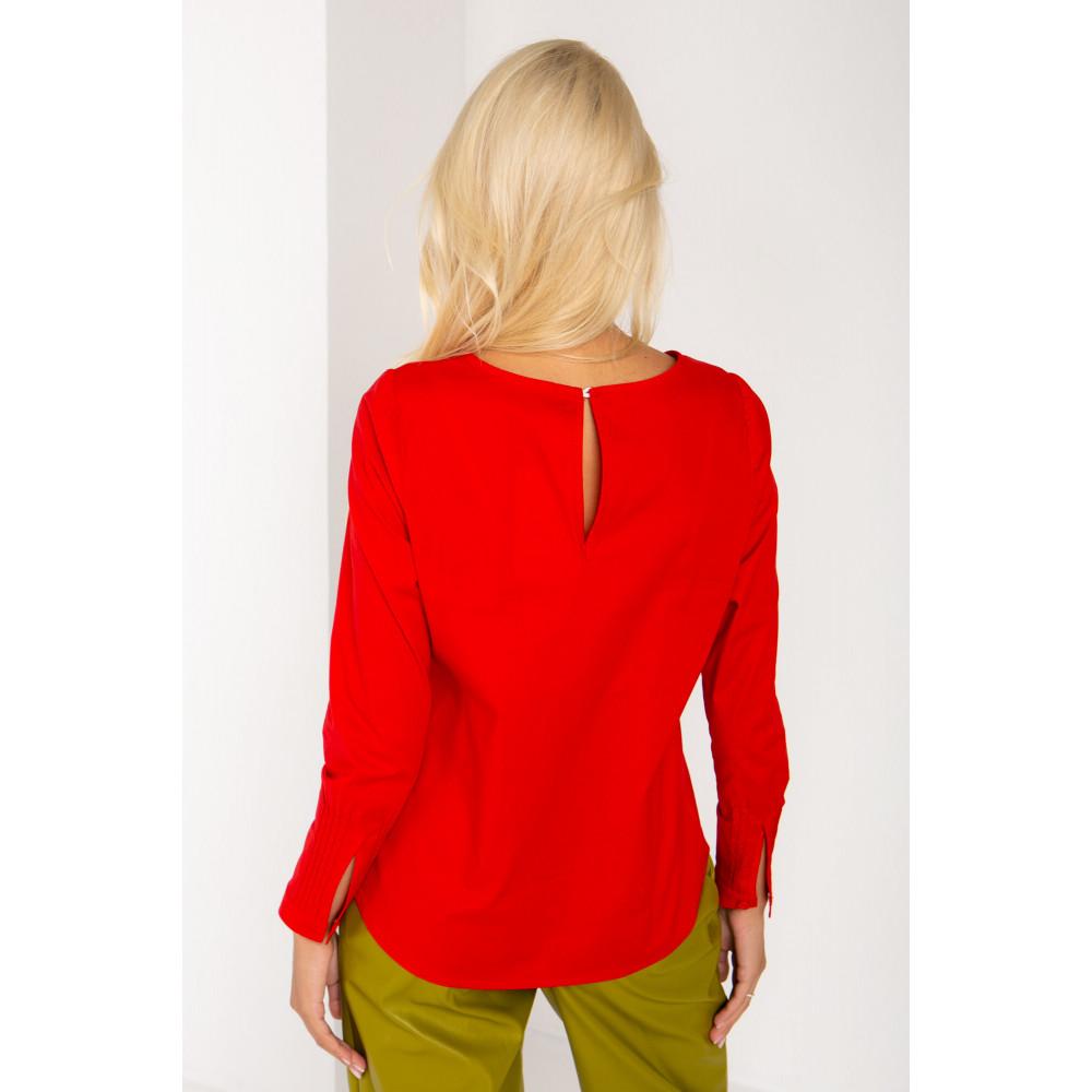 Алая хлопковая блуза Ванесса фото 2