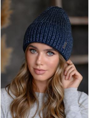 Молодежная вязаная шапка Оливия с люрексом
