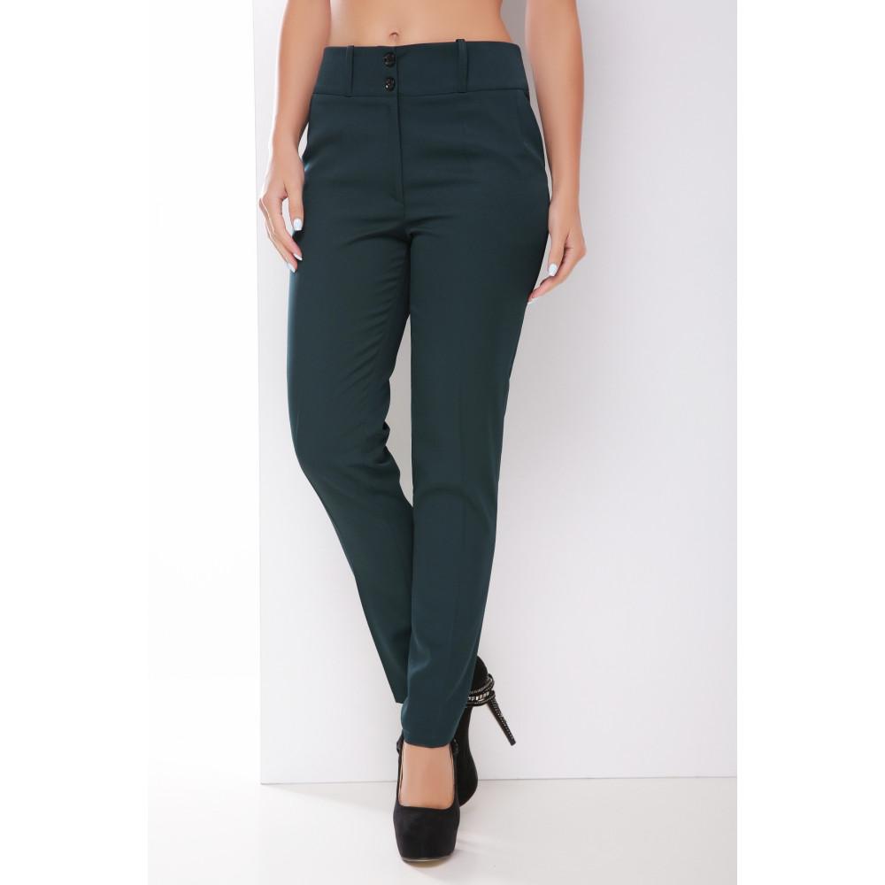 Классические зеленые брюки фото 1