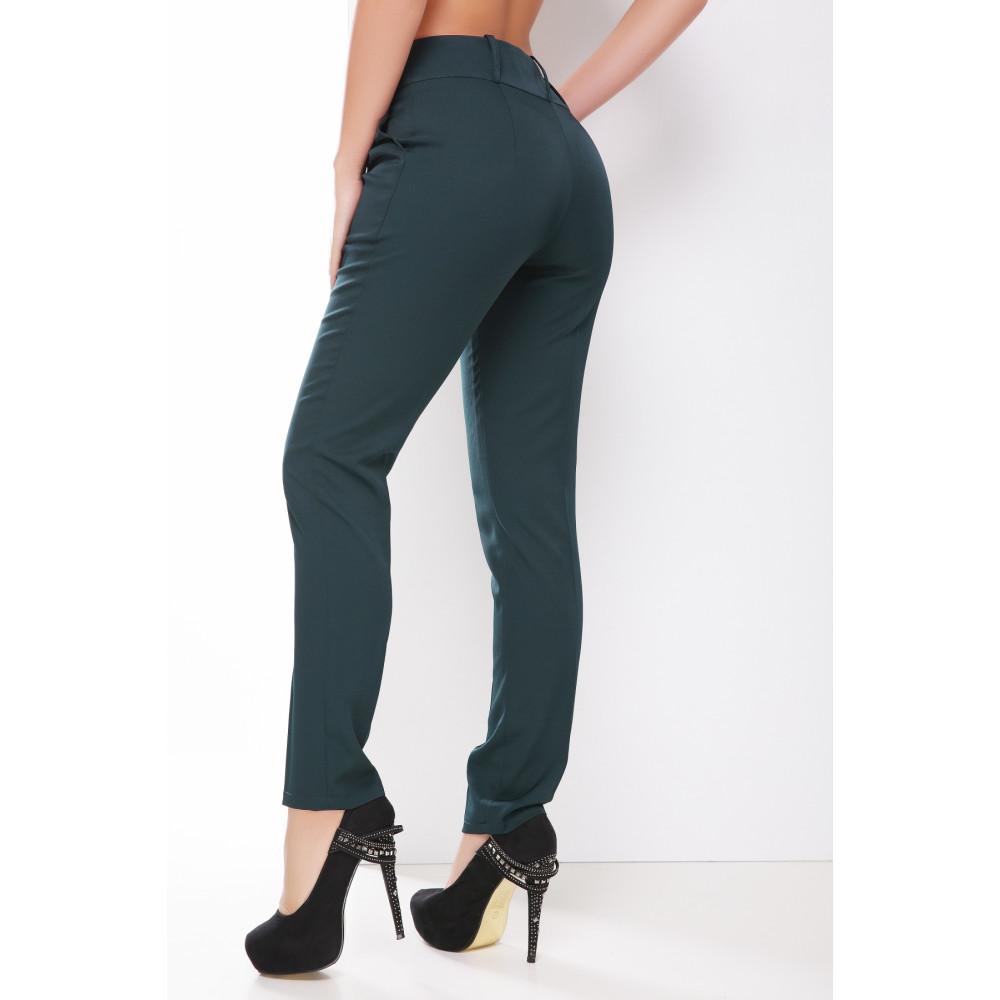 Классические зеленые брюки фото 2