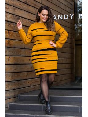 Яркое теплое платье Линда