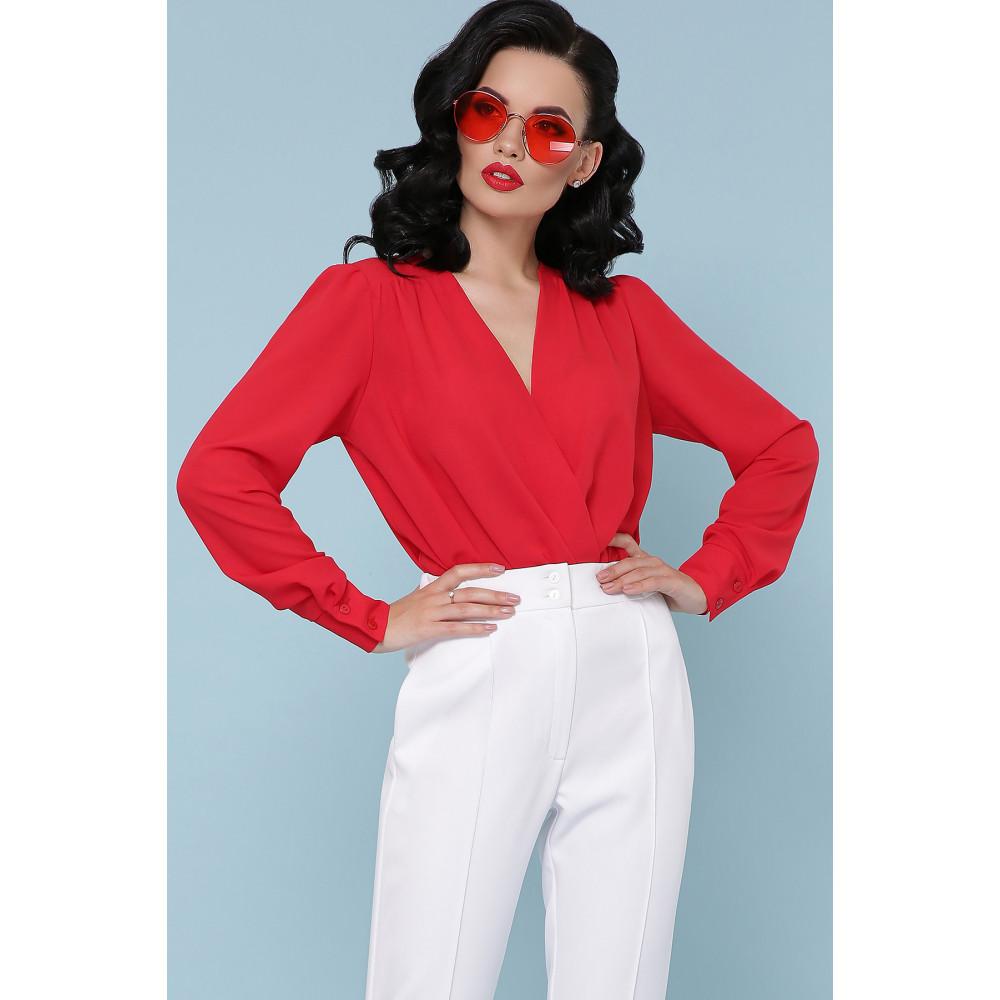 Элегантная красна блузка-боди Карен фото 1