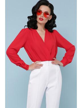 Элегантная красна блузка-боди Карен