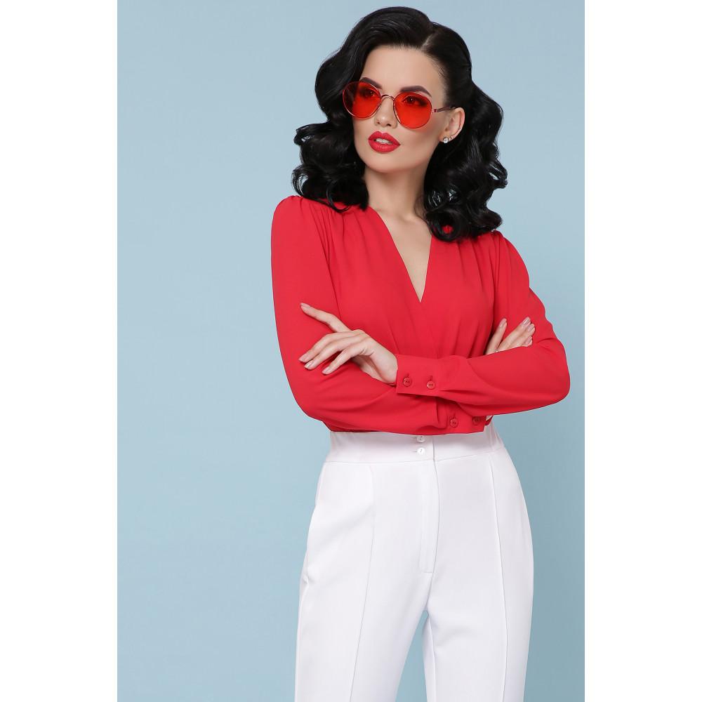 Элегантная красна блузка-боди Карен фото 2