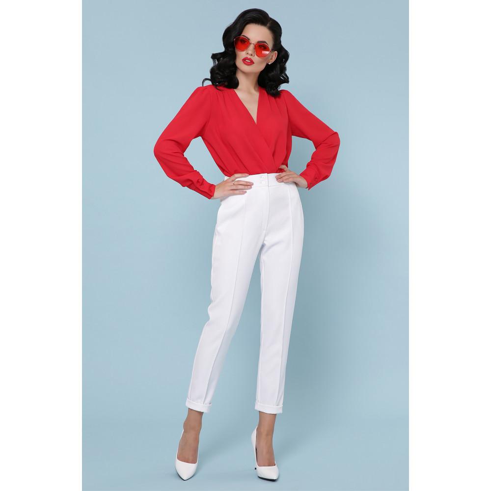 Элегантная красна блузка-боди Карен фото 4