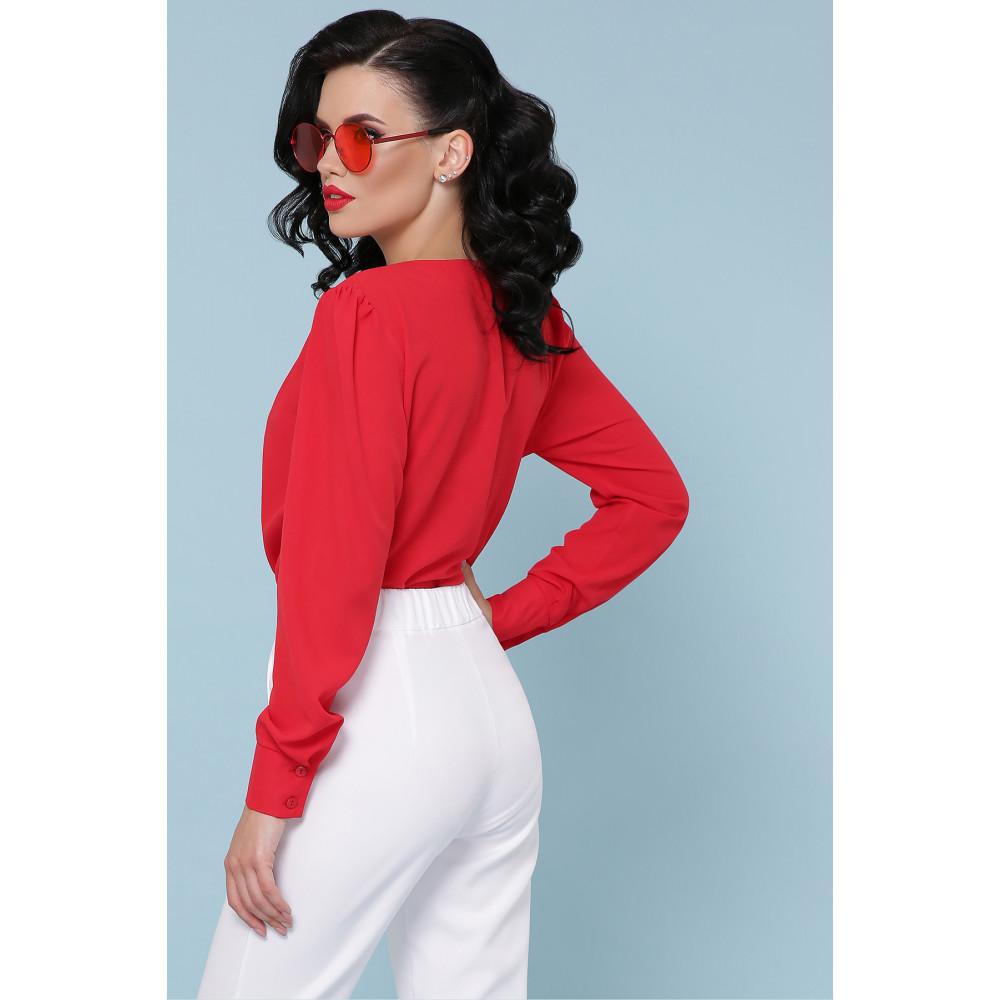 Элегантная красна блузка-боди Карен фото 5