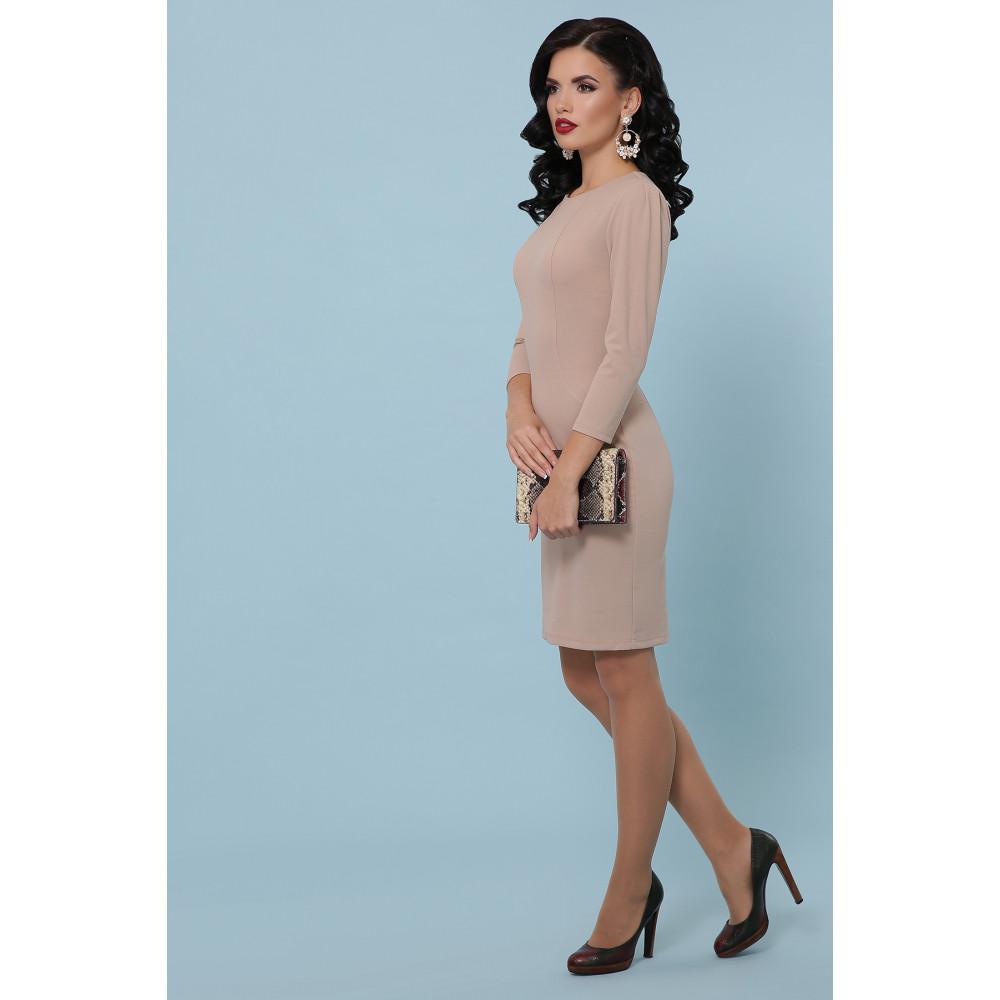 Базовое бежевое платье Модеста фото 3