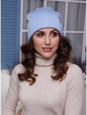 Женская голубая шапка Лана