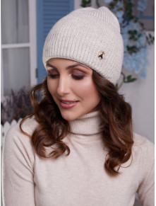 Женская шапка Мирана с высоким манжетом