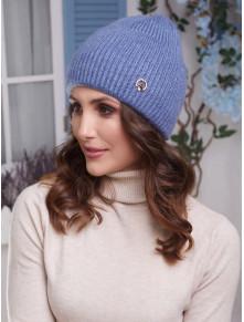 Синяя вязаная шапка Мирана