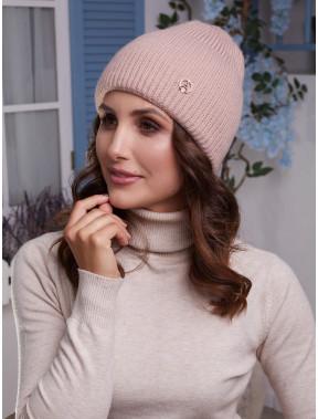 Модная розовая шапка Мирана