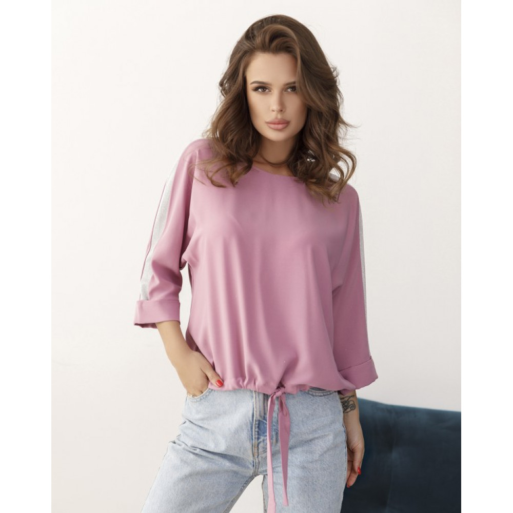 Лиловая блуза з блестящими вставками Таша фото 1