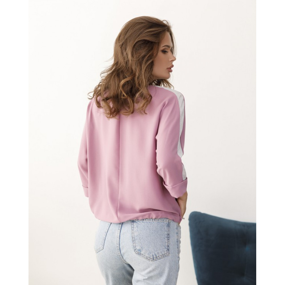 Лиловая блуза з блестящими вставками Таша фото 3