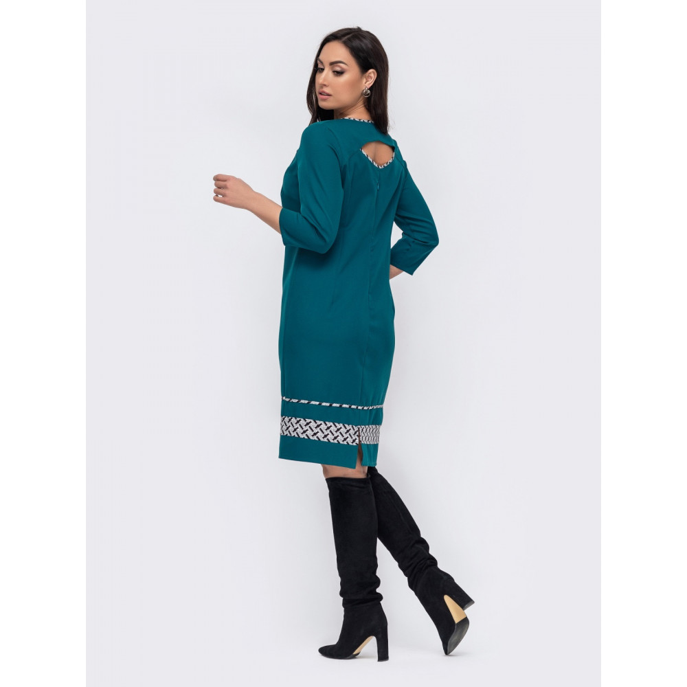 Зеленое платье с игривыми вырезами Лиззи фото 3