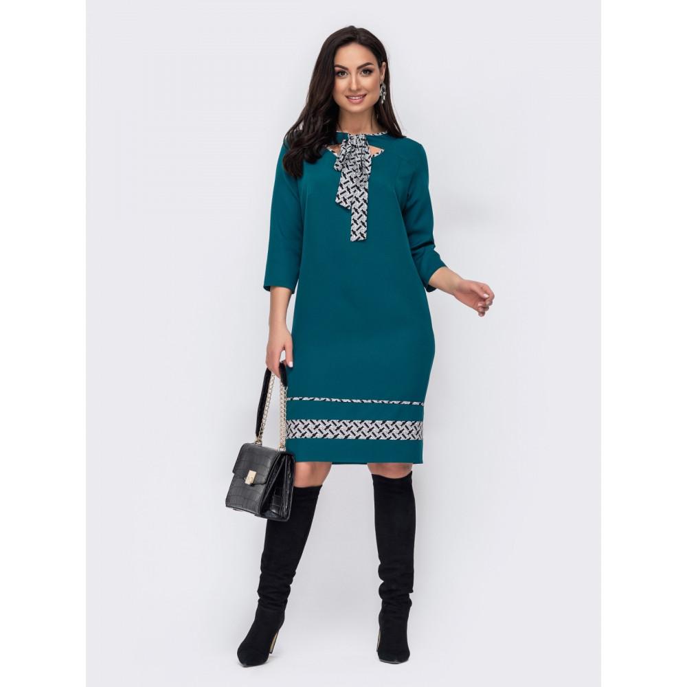 Зеленое платье с игривыми вырезами Лиззи фото 1