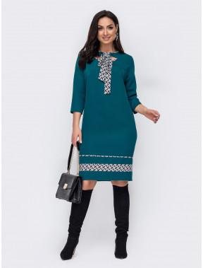 Зелена сукня з грайливими вирізами Лізі