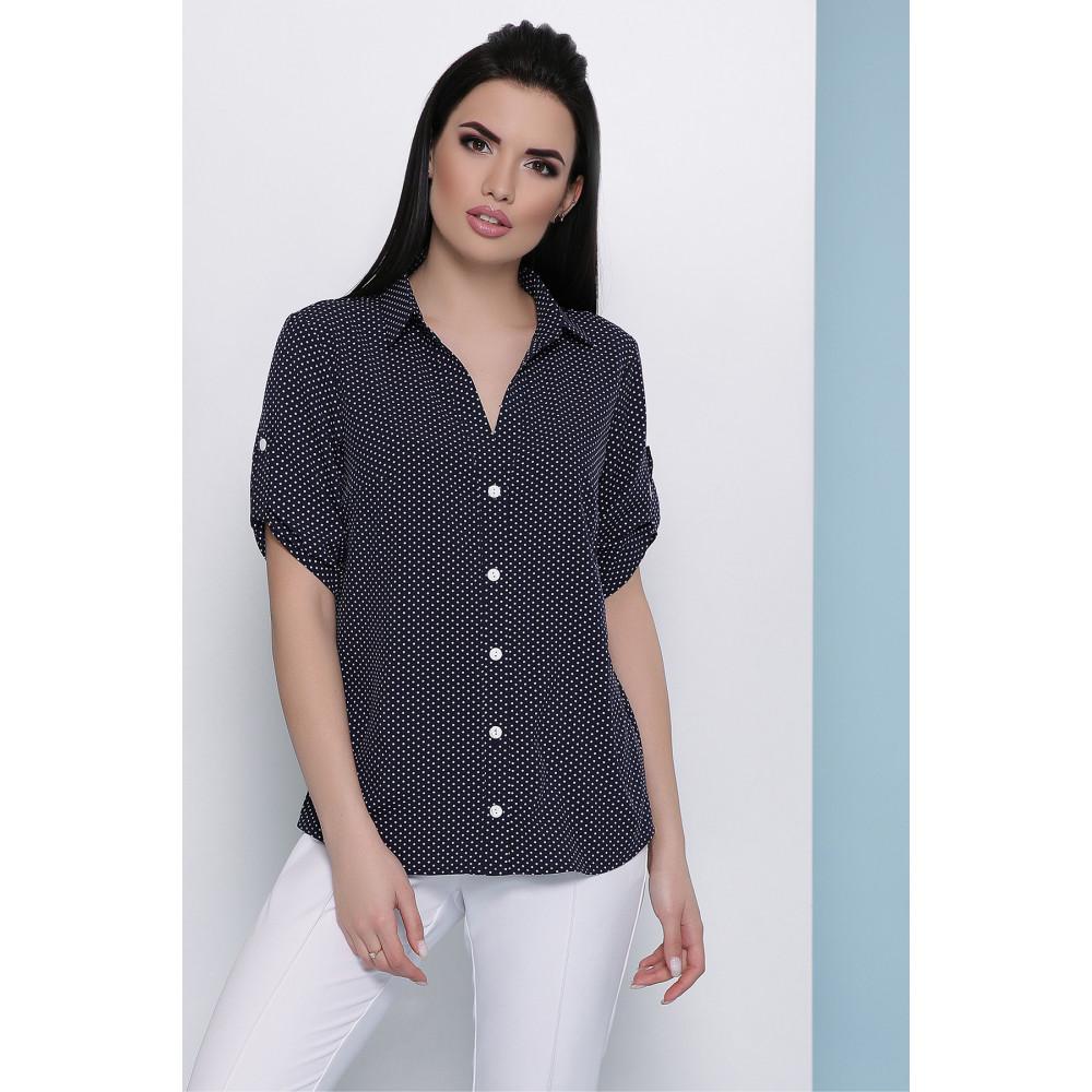 Блузка в мелкий белый горошек Джейн фото 1