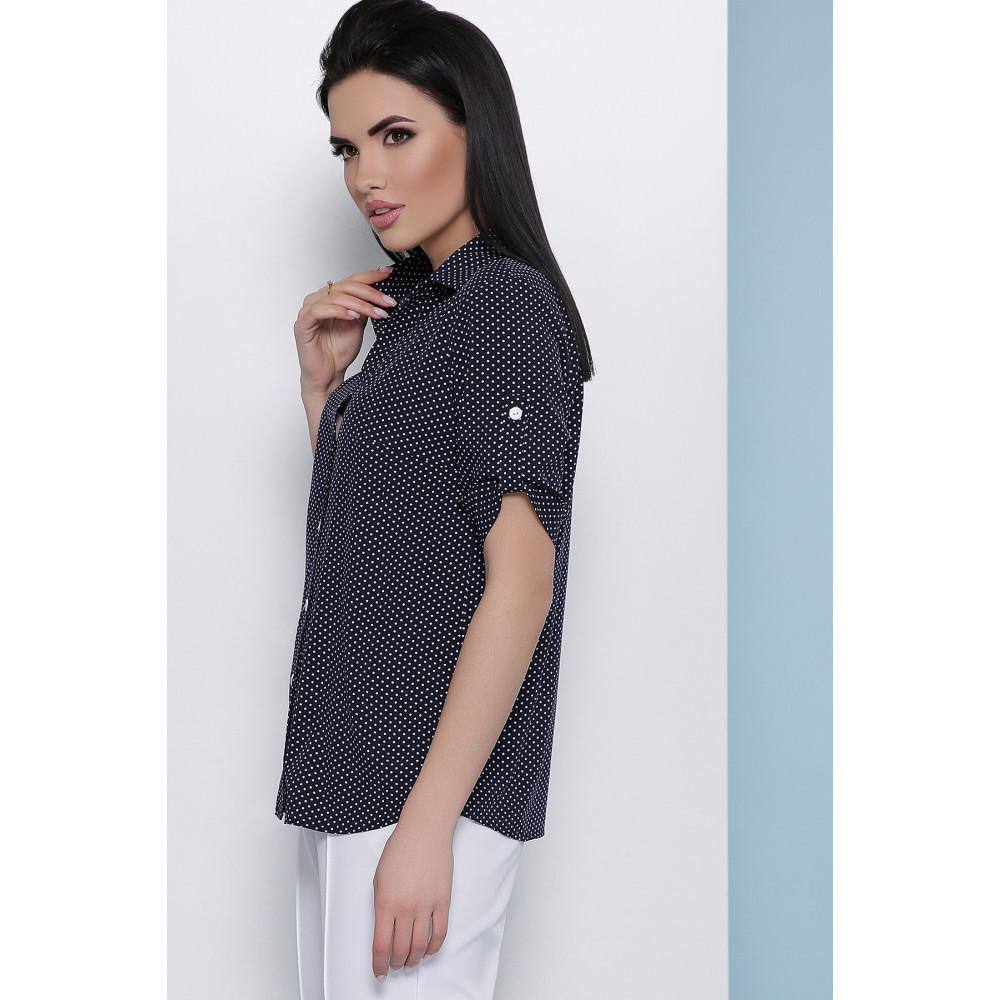 Блузка в мелкий белый горошек Джейн фото 2