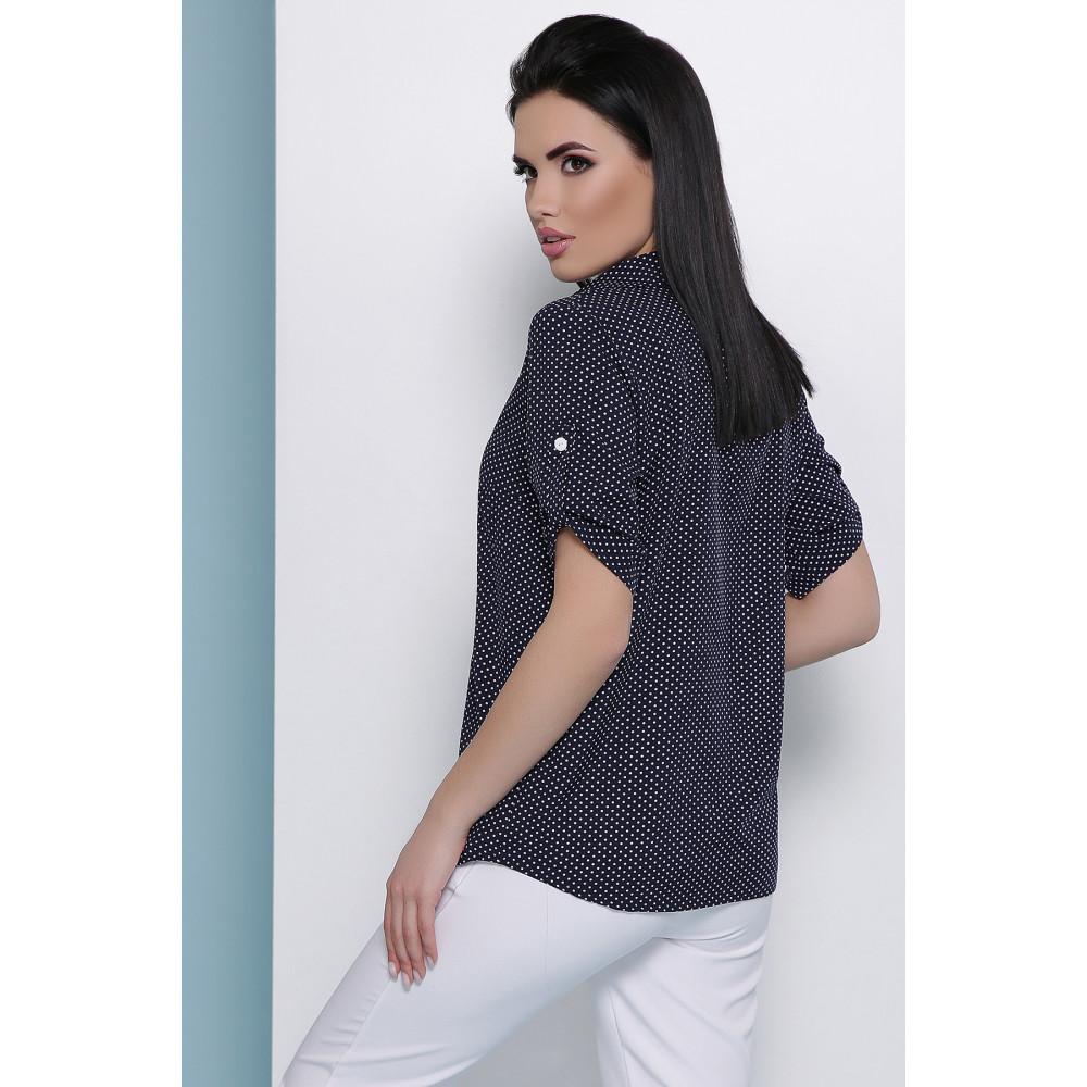 Блузка в мелкий белый горошек Джейн фото 3