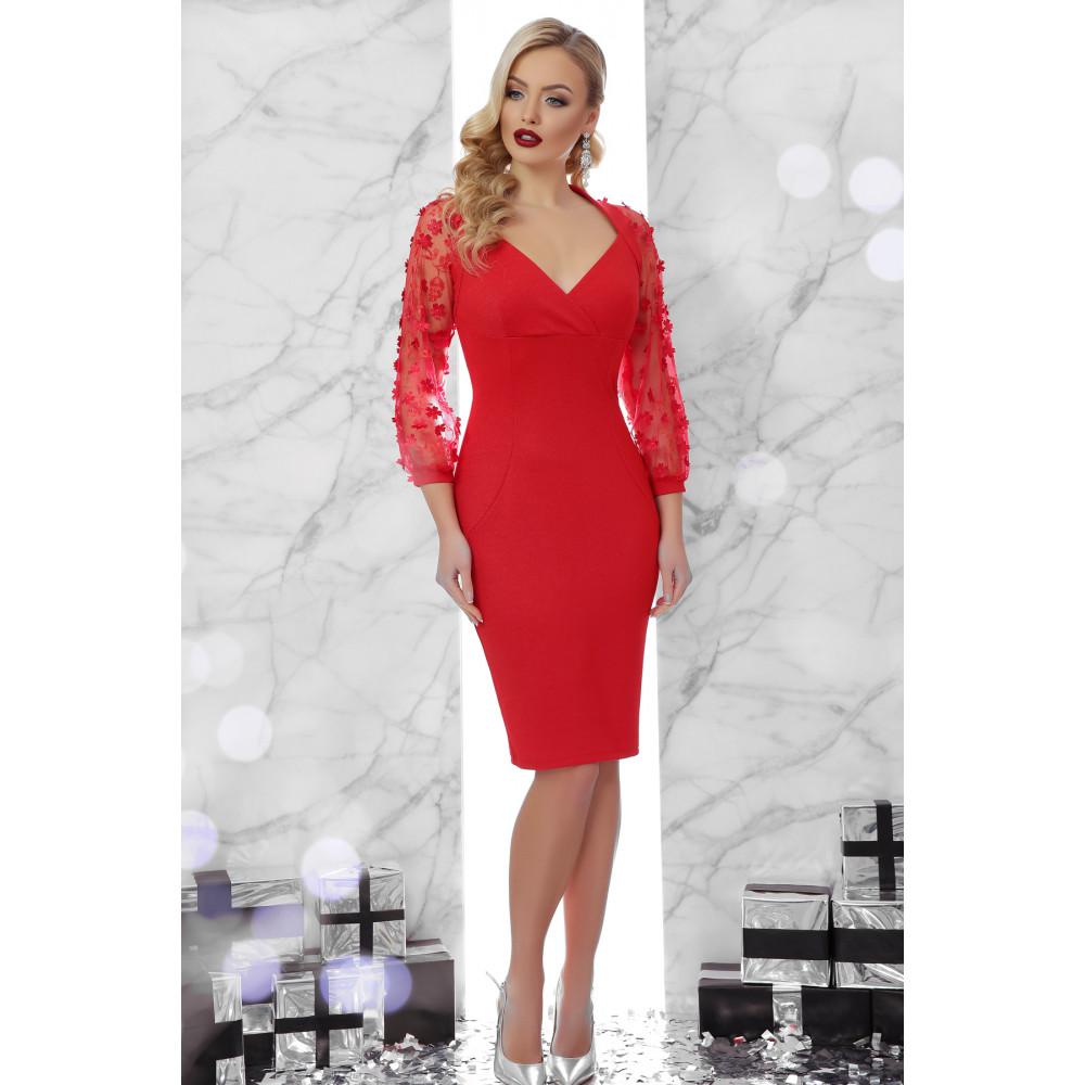 Вечернее красное платье-футляр Флоренция фото 1