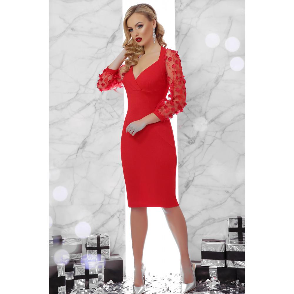 Вечернее красное платье-футляр Флоренция фото 2