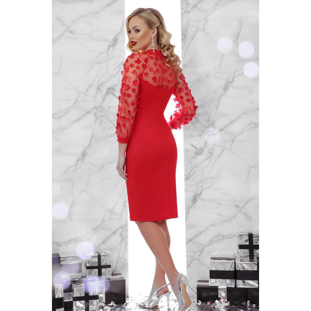 Вечернее красное платье-футляр Флоренция фото 3