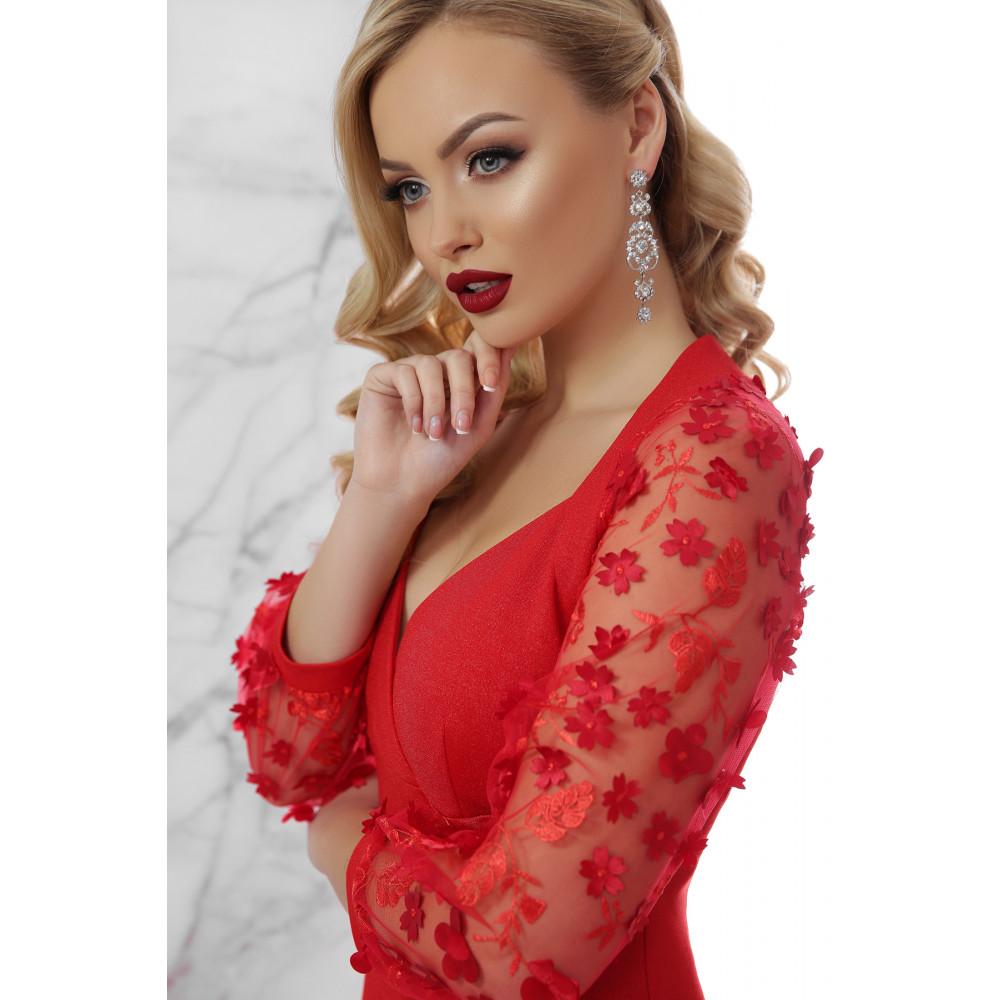 Вечернее красное платье-футляр Флоренция фото 4