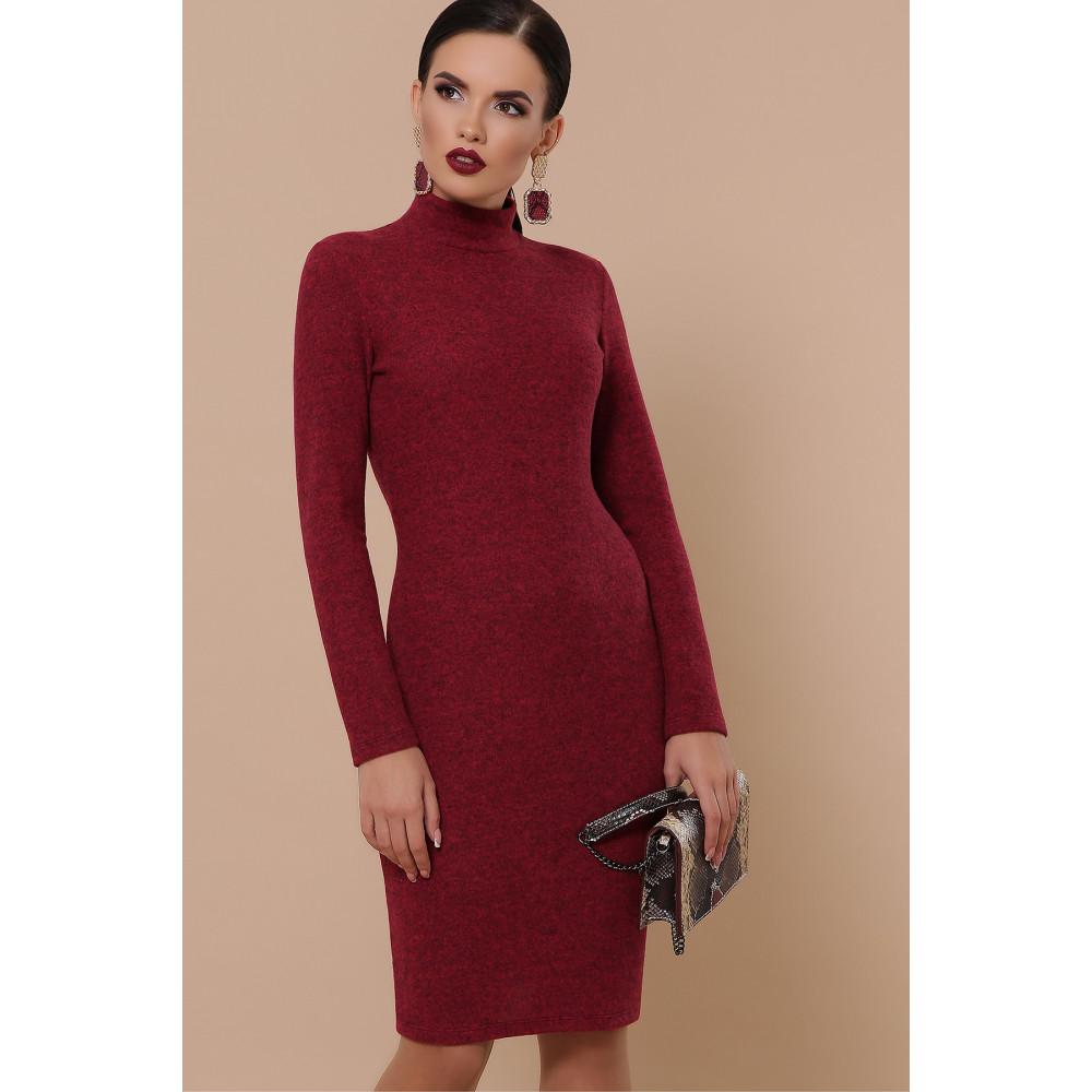 Бордовое платье-гольф Алена фото 1