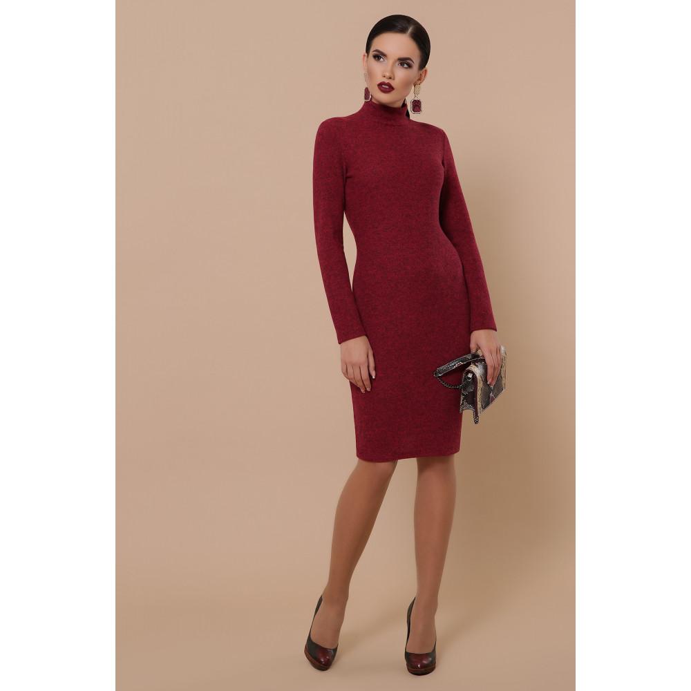 Бордовое платье-гольф Алена фото 2