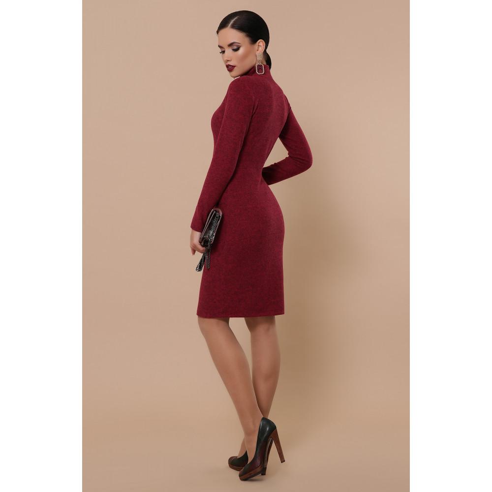 Бордовое платье-гольф Алена фото 3