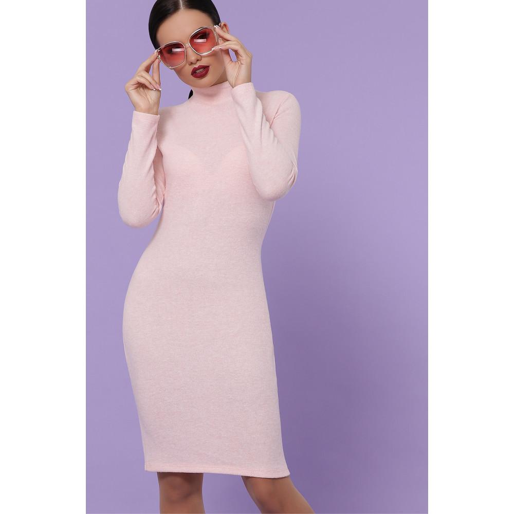 Нежное персиковое платье-гольф Алена фото 1
