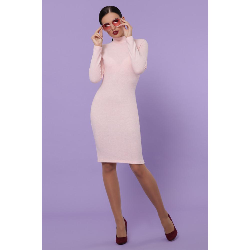 Нежное персиковое платье-гольф Алена фото 3