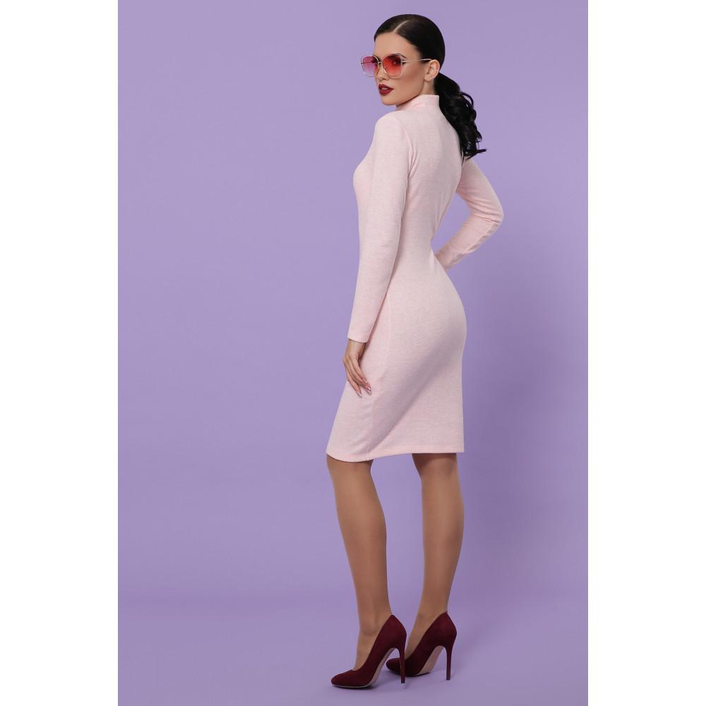 Нежное персиковое платье-гольф Алена фото 4