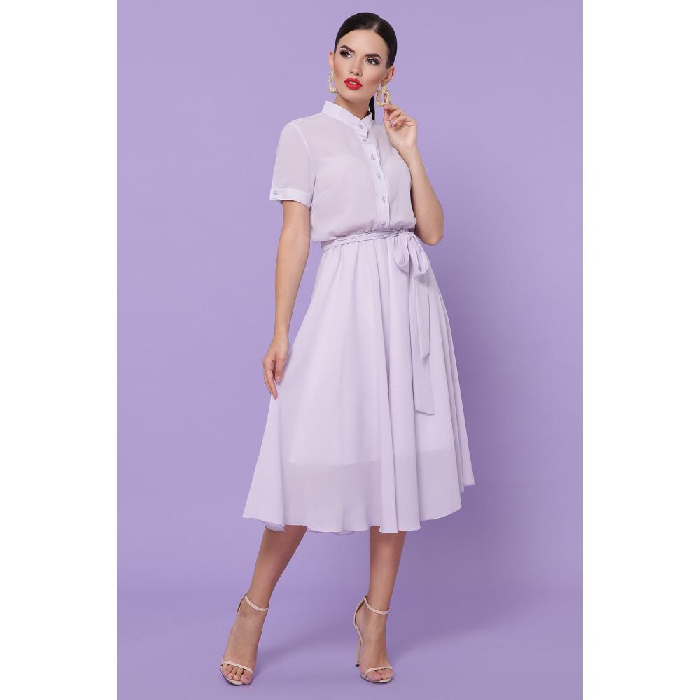 Лавандовое легкое платье Изольда фото 2