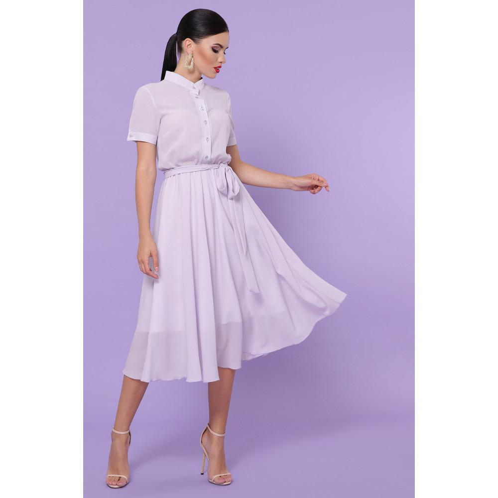 Лавандовое легкое платье Изольда фото 3