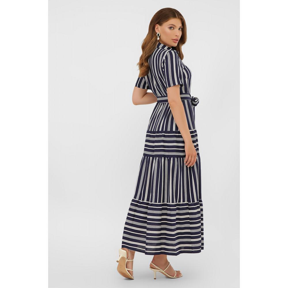 Актуальное платье-рубашка в полоску Дженни фото 3