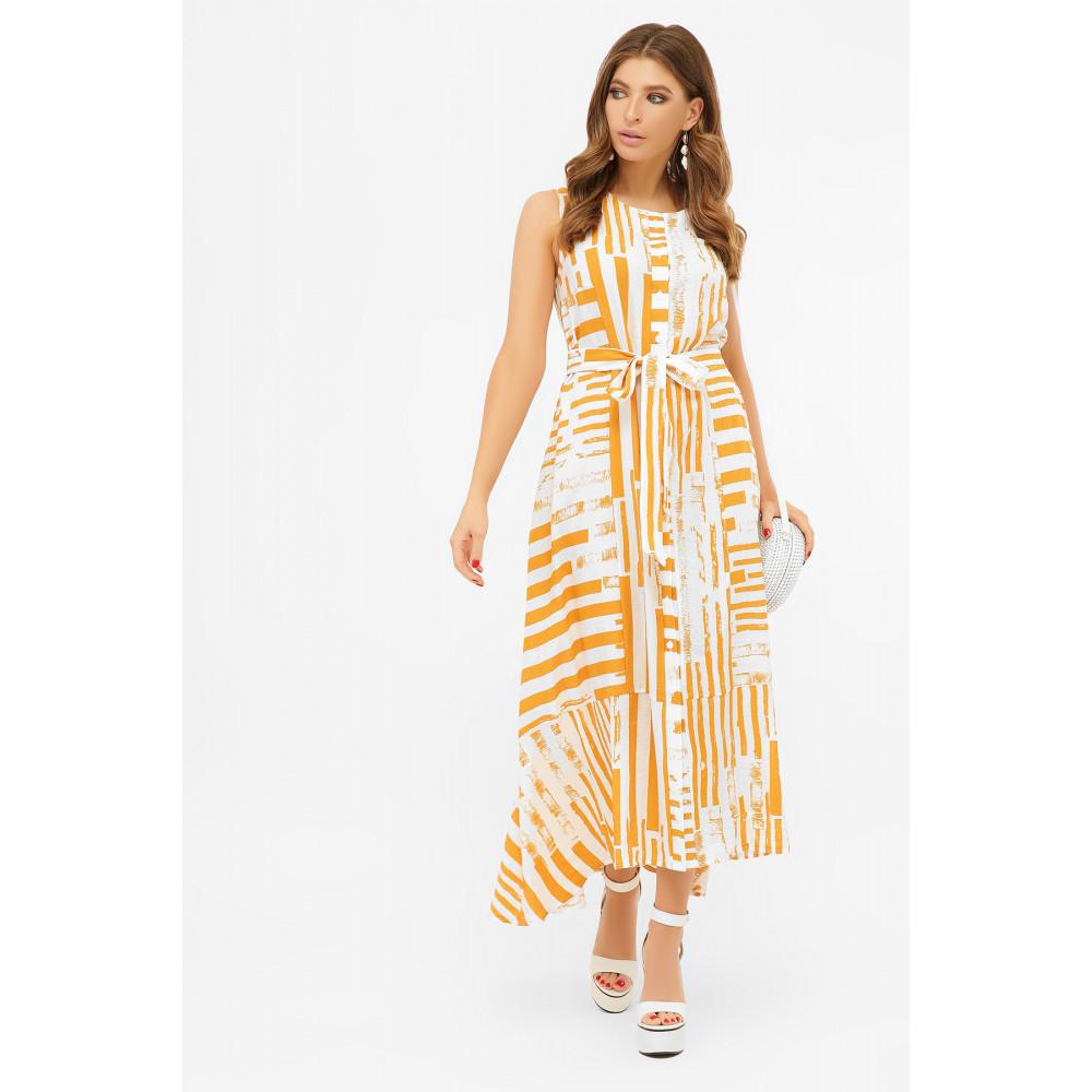 Длинное платье-рубашка из хлопка Дасия фото 1