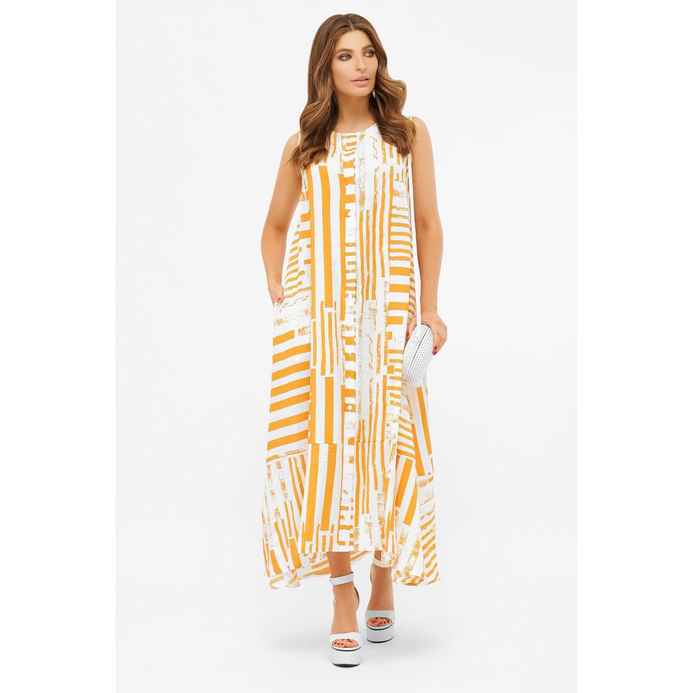 Длинное платье-рубашка из хлопка Дасия фото 2