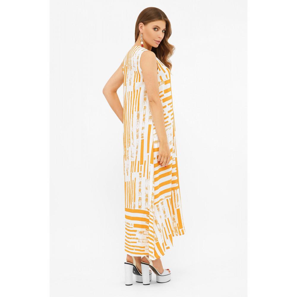Длинное платье-рубашка из хлопка Дасия фото 3