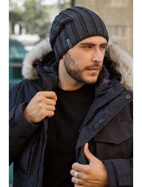 Темно-серая мужская шапка Монблан