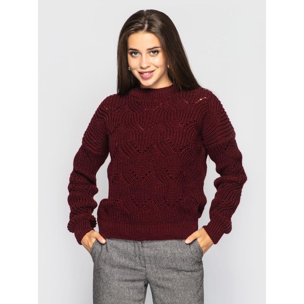 Бордовый свитер Sonata  фото 1