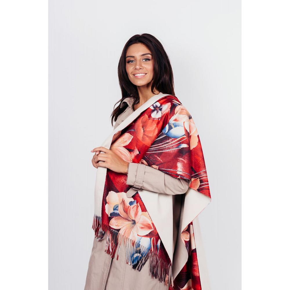 Бордовый уютный шарф Белинда фото 1