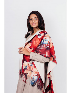Бордовый уютный шарф Белинда